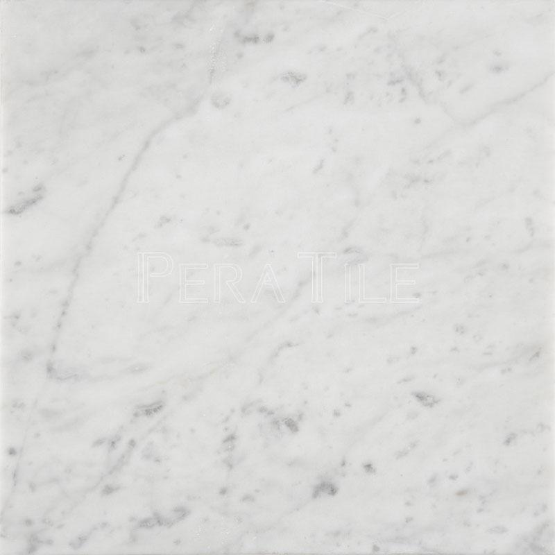 Bianco Carrara 12x12 Honed Marble Tile Pera Tile