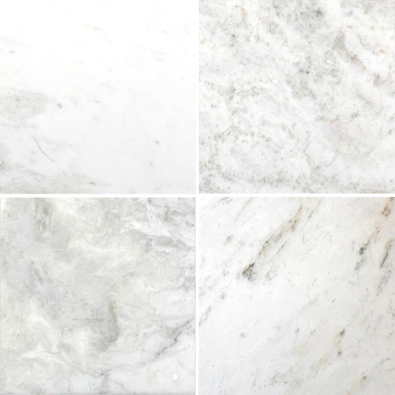 Bianco Marea 12x12 Honed Marble Tile Pera Tile