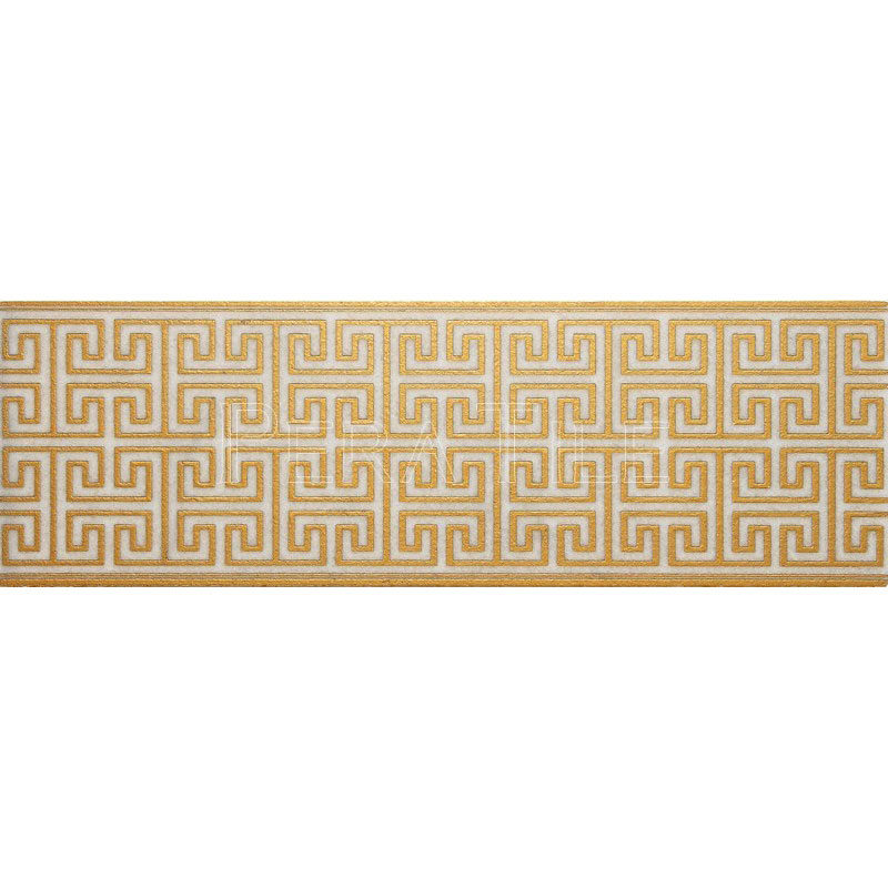 Maze Wall Border Levant Gold Pera Tile