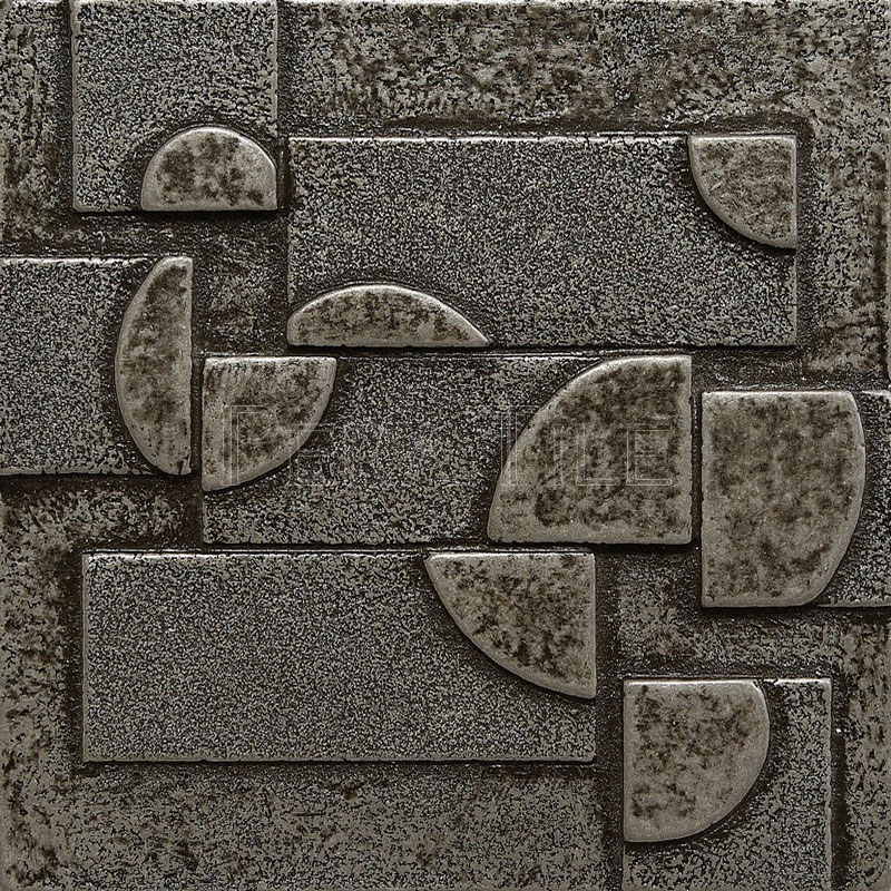 Eclipse Insert X Pewter Decorative Insert Pera Tile - Decorative 4x4 metal tiles