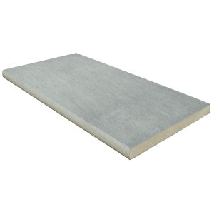 "12"" x 24"" Porcelain Pool Coping: Nextone Light Grey"