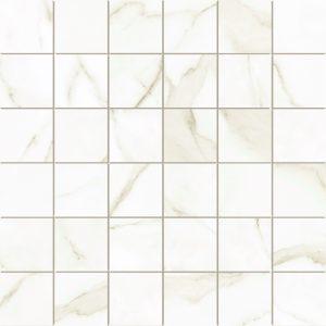 250257 - 2 X 2 SQUARE MOSAIC MARBLEOUS WHITE - SILK a