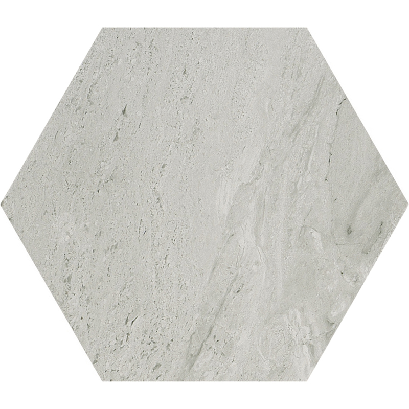 Verona Hexagon Porcelain Tile Grey Pera Tile