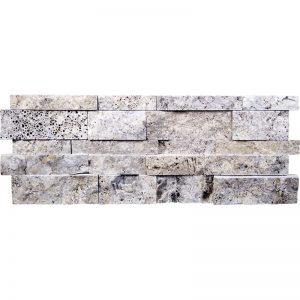 7×20 Silver Splitface Travertine Wall Panel PERATILE