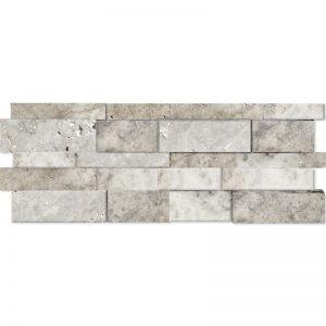 7×20 Silver Splitface Travertine Wall Panel PERATILE v2