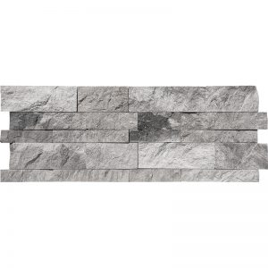 7x20 Niobe Grey Splitface Marble Wall Panel PERATILE