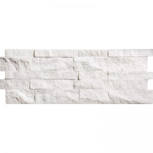 Levant 7x20 Splitface Marble Interlocking Ledger PeraTile
