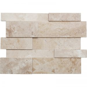 Meditera Honed-Travertine-Jumbo-3D-Wall-Panel Pera Tile