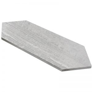 155205-18 honed 5 3:4x22 grigio Elegante picket tile 1