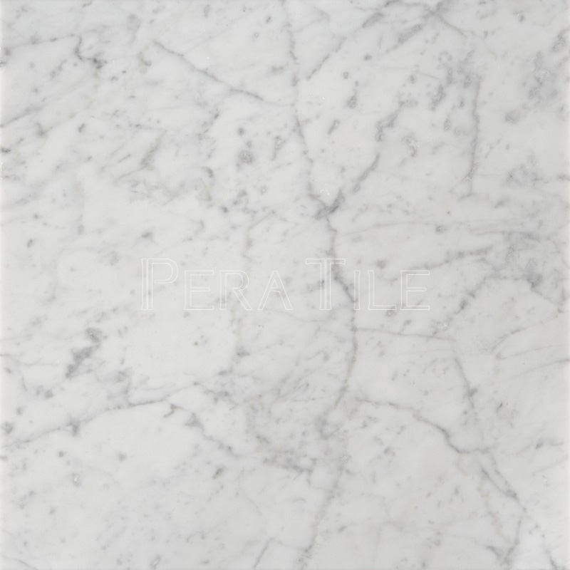 Bianco Carrara 18 Honed Marble Tile