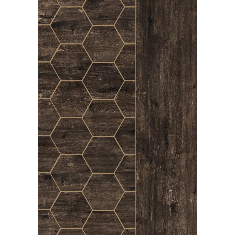 4 Hexagon Heritage Brown Pera Tile