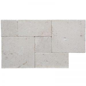 Roman Pattern Symra-Shell-Beige-Tumbled-Limestone-3cm