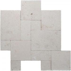 Versailles Symra-Shell-Beige-Tumbled- Limestone-Paver-3cm