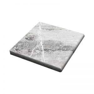 12×12x3cm Niobe Grey Fine Picked Marble Coping