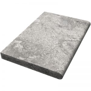 16×24 Silver Honed Travertine Coping -5cm