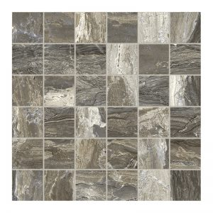250366 Mosaic 2x2 taupe polished r