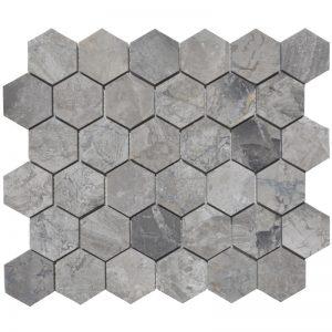 2x2- Niobe Honed-Hexagon-Mosaic