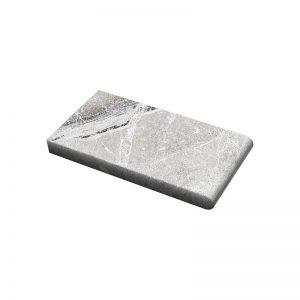 6×12x3cm Niobe Grey Fine Picked Marble Coping