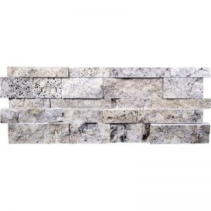 7×20 Silver Splitface Travertine Wall Panel PERATILE