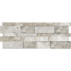 7×20 Silver Splitface Travertine Wall Panel PERATILE v2