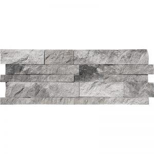 7x20 Niobe Grey Splitface Marble Wall Panel PERATILE