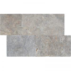 Hun silver linear pattern pera tile