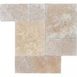 Meditera-Tumbled-Roman-Pattern-Travertine-Paver-3cm