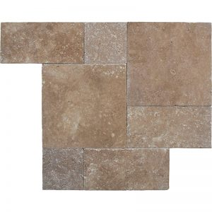 Noce-Tumbled-Roman-Pattern-Travertine-Paver-3cm