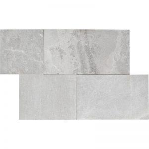 Pera TIle Niobe Grey Fine Picked Marble Linear Pattern Paver (3cm) A