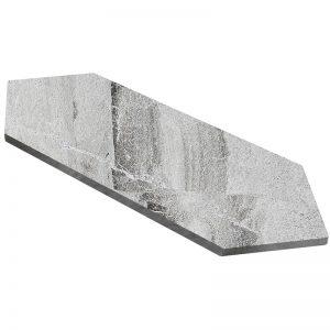 155204-125 polished - NIOBE GREY picket tile small