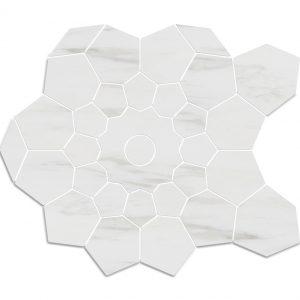 Bloom mosaic Bianco dolomiti